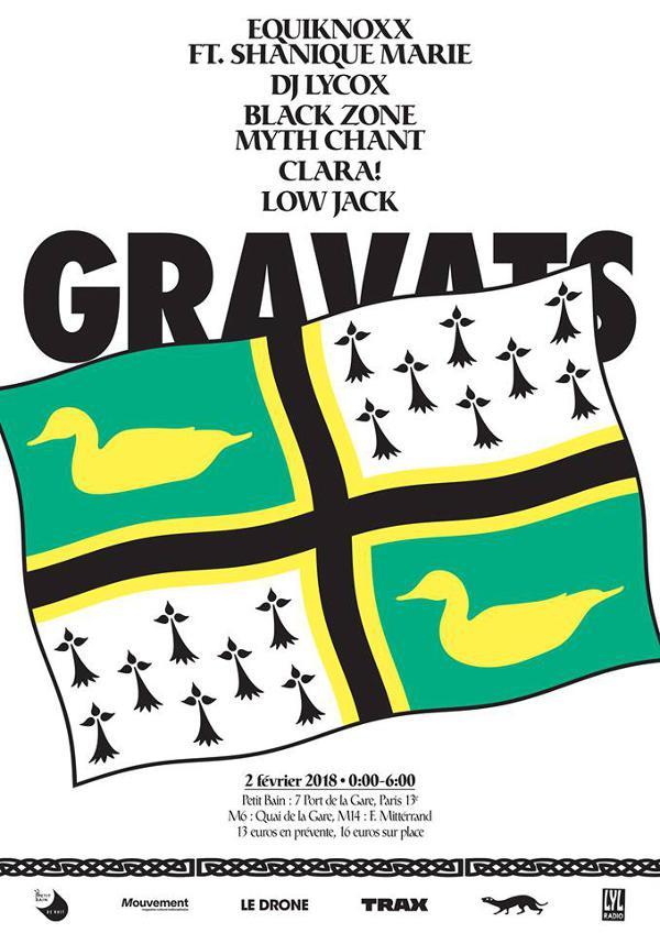DÉPLACÉ AU TRABENDO //  Editions Gravats - Equiknoxx DJ Lycox BZMC Clara! Low Jack