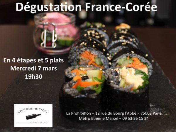 Dégustation France-Corée