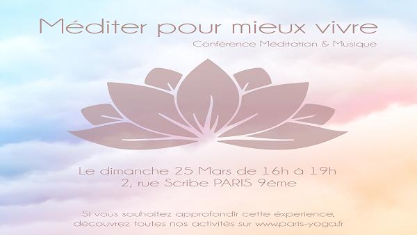 """""""MEDITER POUR MIEUX VIVRE"""" - Grand événement annuel"""