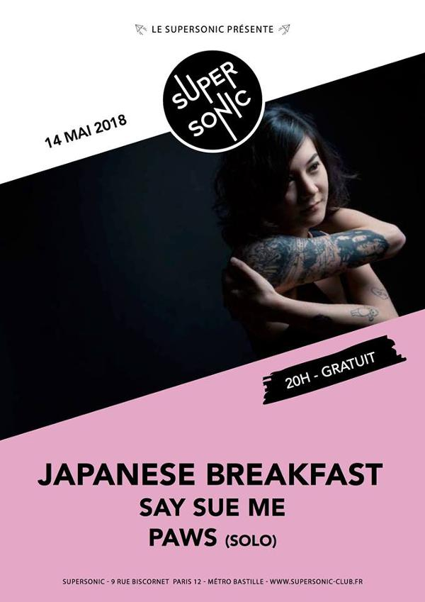 Japanese Breakfast • Say Sue Me • Paws (solo) / Supersonic