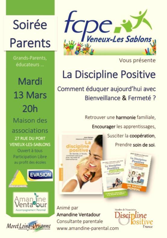 """Soirée des Parents """" La Discipline positive"""""""