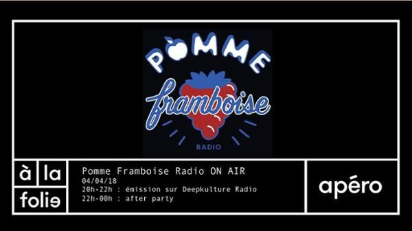 Pomme Framboise Radio On Air à la folie