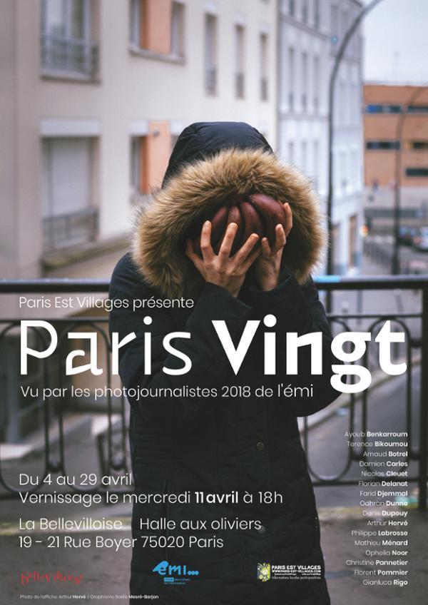 """VERNISSAGE DE L'EXPOSITION PHOTO """"PARIS VINGT"""""""
