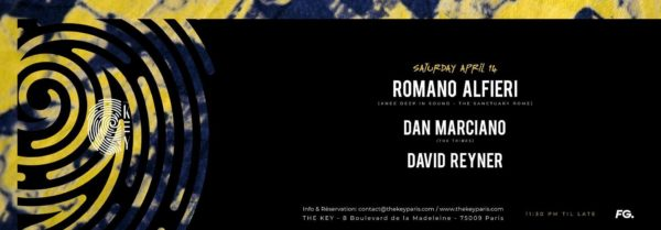 The Key presents : Romano Alfieri, Dan Marciano, David Reyner