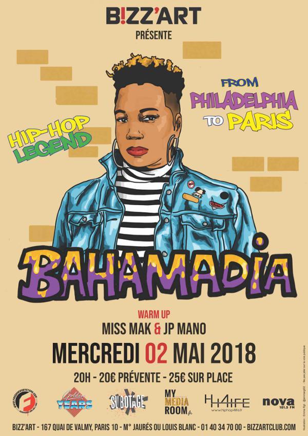 HipHop legend BAHAMADIA Live @Bizz'Art