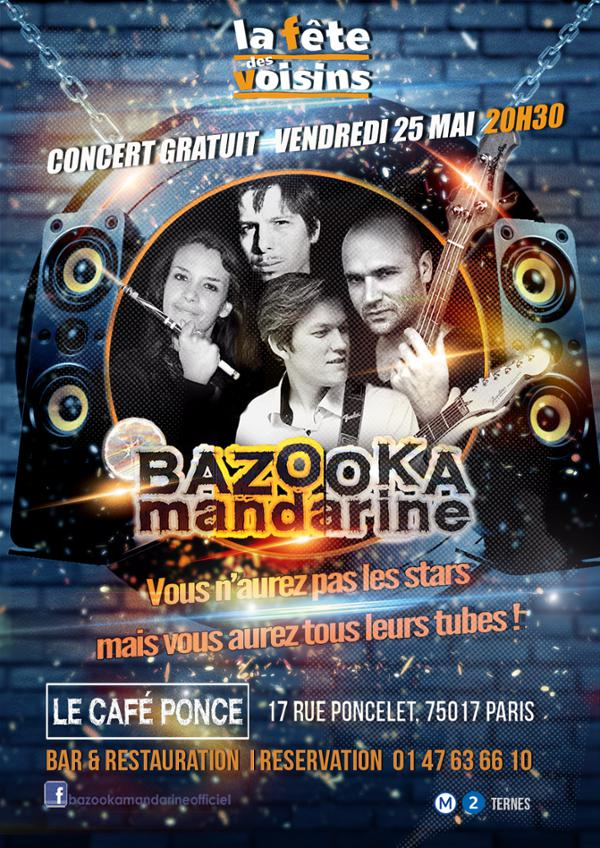 Bazooka Mandarine au Café Ponce (Fête des Voisins)