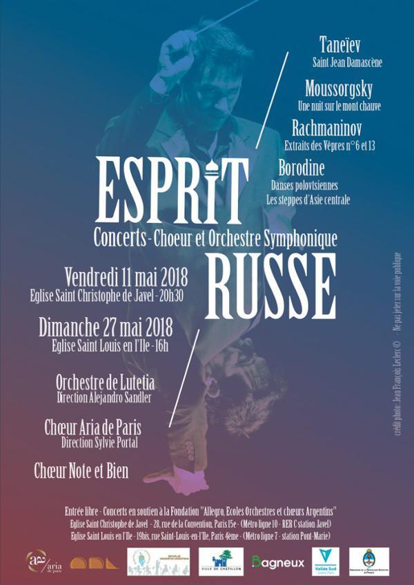 Concert- Esprit Russe, Taneïev, Moussorgski, Rachmaninov, Borodine