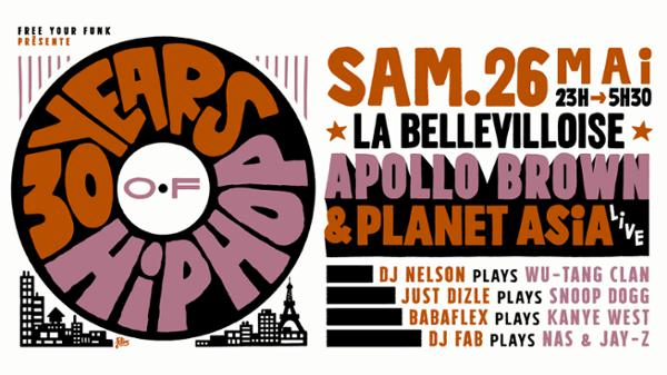 FREE YOUR FUNK : 30 YEARS OF HIP HOP ft. APOLLO BROWN & PLANET ASIA