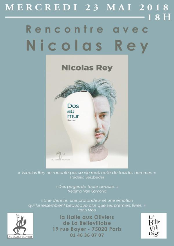 "RENCONTRE-DÉDICACE : NICOLAS REY ""DOS AU MUR"""