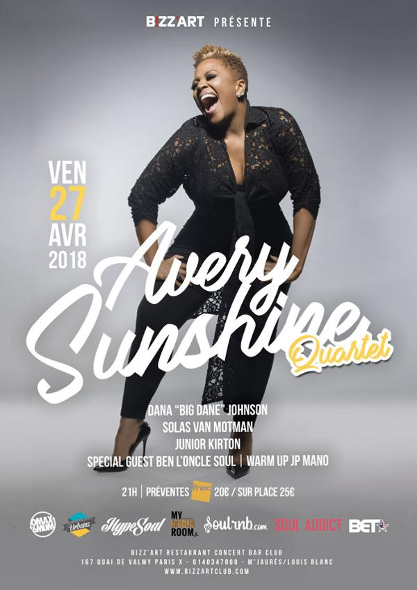 AVERY SUNSHINE LIVE @BIZZ'ART