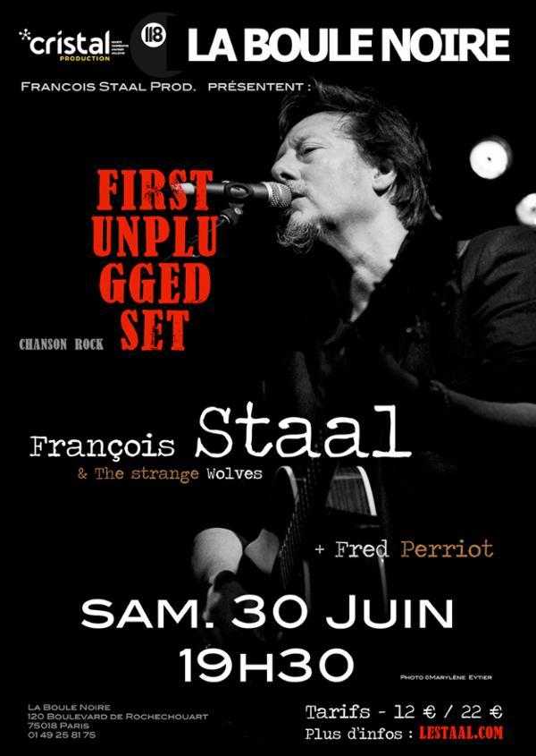 François Staal à la boule Noire - 1er concert ACOUSTIQUE
