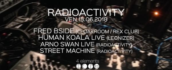 Radioactivity invite Fred BSide (Rex Club / Cloakroom) et Human Koala LIVE (Leonizer Records)