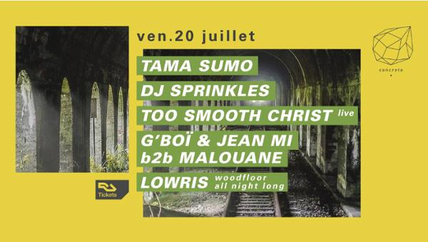 Concrete : Tama Sumo, Dj Sprinkles, Too Smooth Christ live