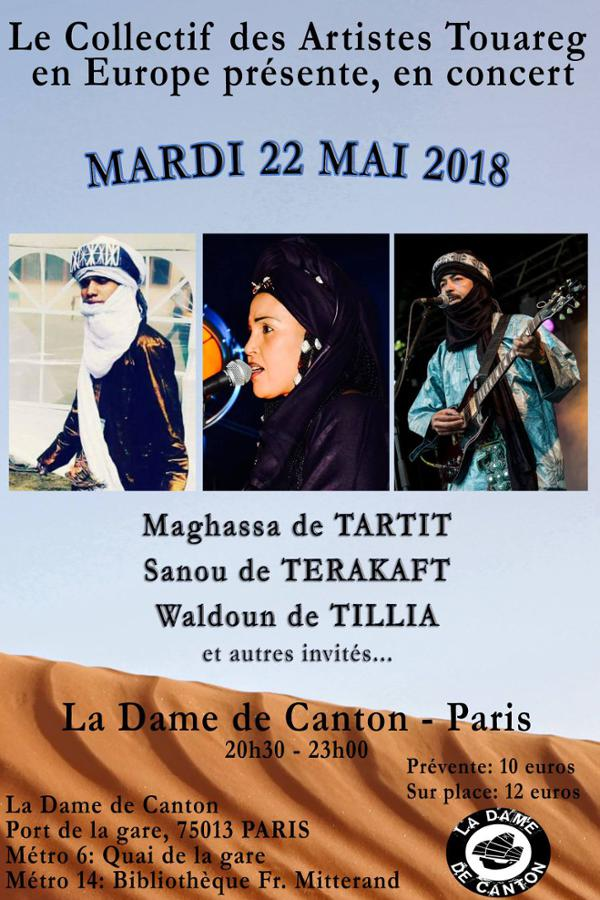 Le Collectif des Artistes Touaregs en Europe // Maghassa de Tartit, Sanou de Terakaft & Waldoun de Tilla