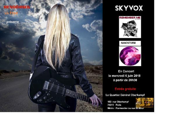 Concert SKYVOX + NANOSTORM + REMEMBER ME au QG !