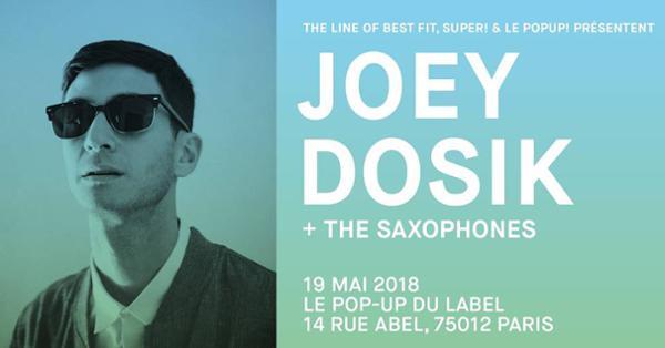 Super! — Joey Dosik + The Saxophones le 19 mai au Popup!