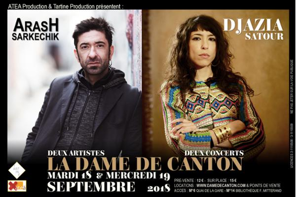 DJAZIA SATOUR (sortie d'album) et Arash Sarkechik