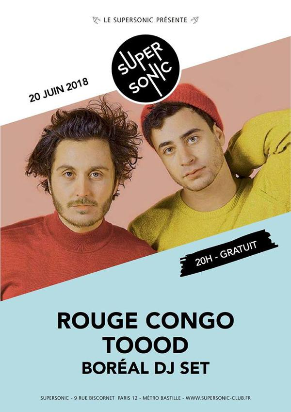 Rouge Congo • TOOOD • Boréal Dj set / Supersonic - Free