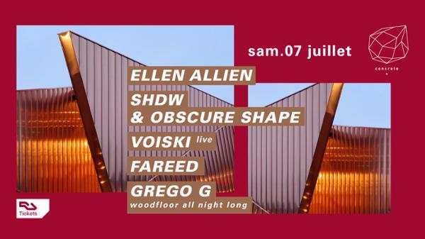 Concrete : Ellen Allien, SHDW & Obscure Shape, Voiski live