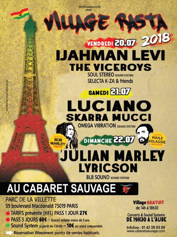 VILLAGE RASTA (JOUR 1) : IJAHMAN LEVI, THE VICEROYS, Soul Stereo Sound System et Selecta K-za & friends