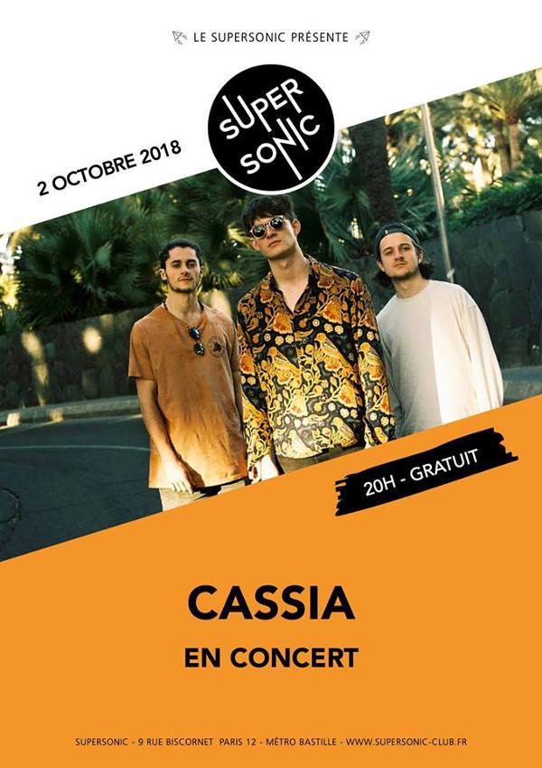 Cassia (calypso afro-rock, UK) en concert au Supersonic
