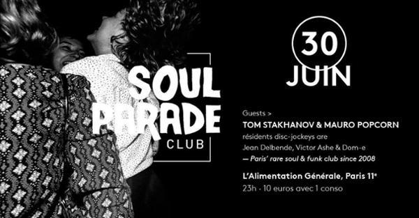 SOUL PARADE CLUB #63 MAURO POPCORN & TOM STAKHANOV