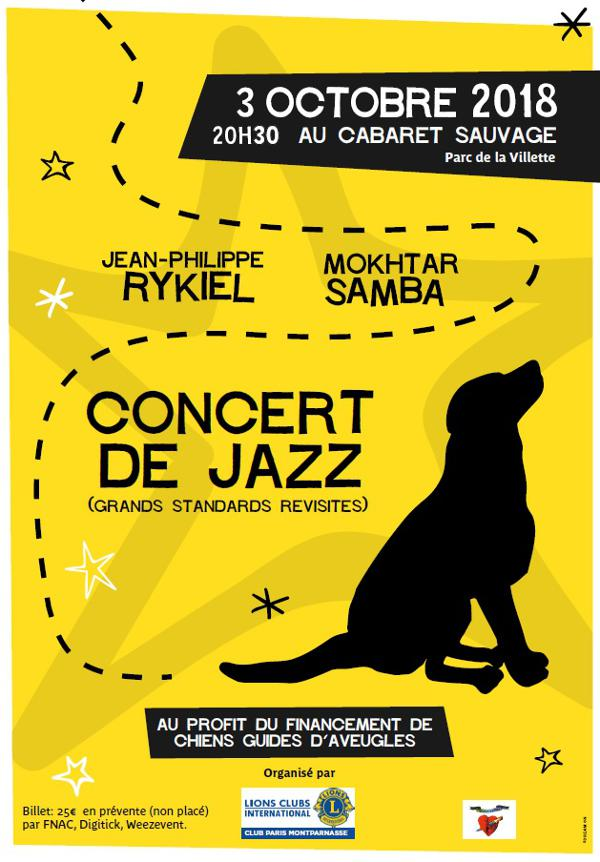 CONCERT DE JAZZ, Grands standards revisités : Jean-Philippe RYKIEL, Mokhtar SAMBA...