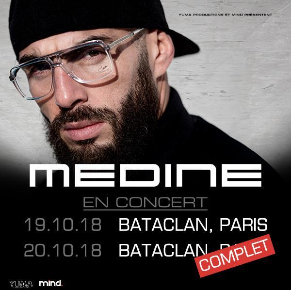 MEDINE • Bataclan • 20 octobre 2018 • COMPLET