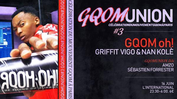 Gqomunion #3 w/ GQOM OH! Nan Kolé & Griffit Vigo + Gqomunion DJs