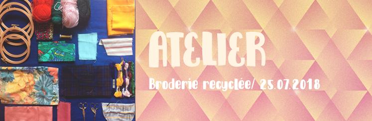 Atelier - broderie recyclée
