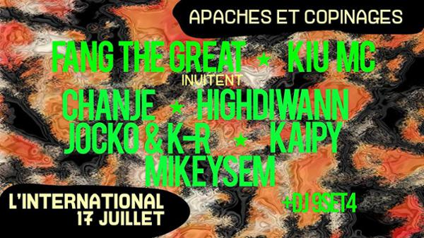 Apaches et Copinages ! Fang The Great & Kiu MC invitent du monde