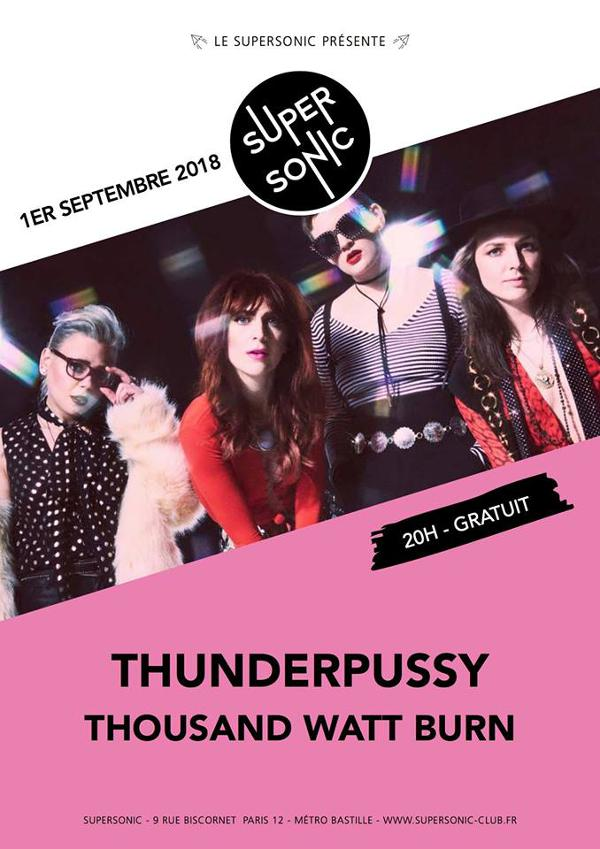 Thunderpussy • Thousand Watt Burn / Supersonic - Free