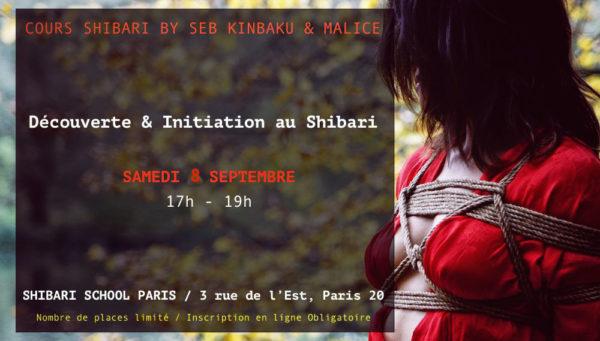 Découverte & Initiation au bondage Shibari avec Seb Kinbaku & Malice (Paris)