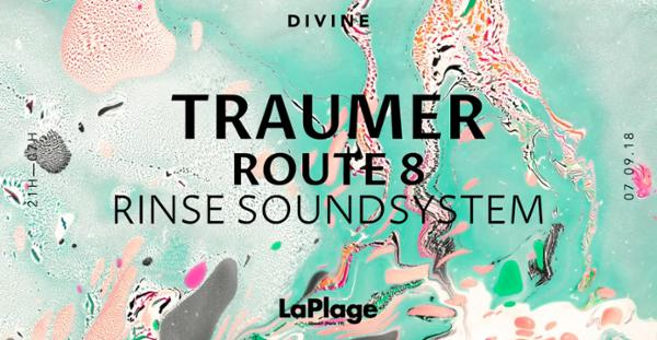 DIVINE — Traumer, Route 8 et Rinse Soundsystem