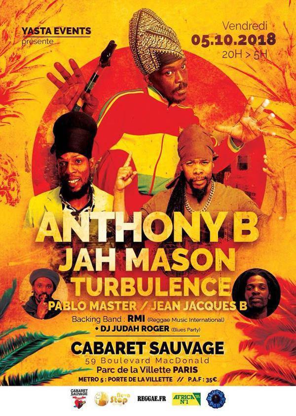 ANTHONY B - JAH MASON - TURBULENCE - PABLO MASTER - JEAN-JACQUES B