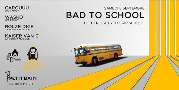 BAD TO SCHOOL - ELECTRO SETS TO SKIP SCHOOL