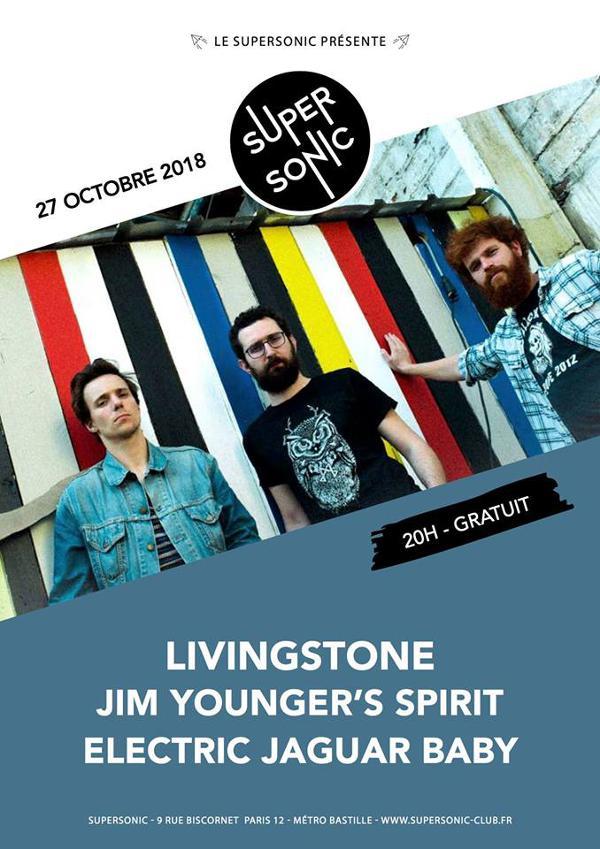 Livingstone • Jim Younger's Spirit • Electric Jaguar Baby / Free