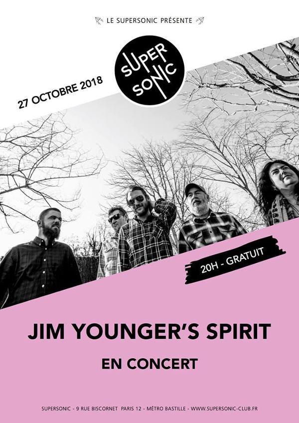 Jim Younger's Spirit en concert au Supersonic - Entrée gratuite