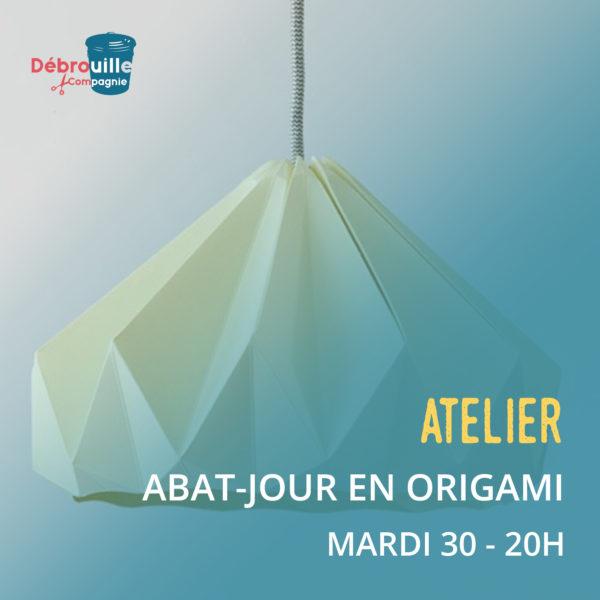 atelier création - abat jour en origami