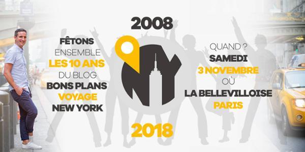 """LA FÊTE DES 10 ANS DU BLOG """"BONS PLANS VOYAGE NEW-YORK"""""""
