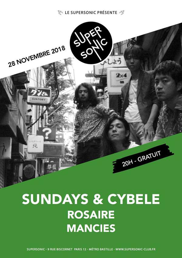 Sundays & Cybele • Rosaire • Mancies / Supersonic