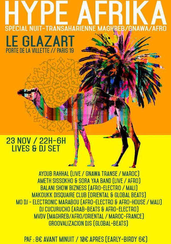 Hype Afrika spécial Nuit Trans-Saharienne Maghreb/Gnawa/Afro !