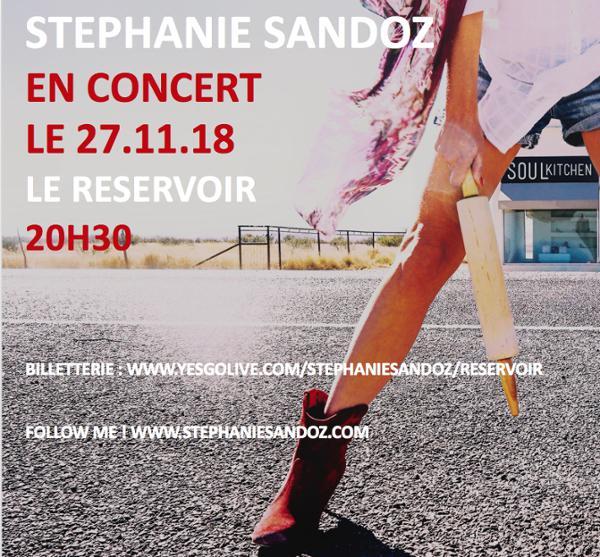Stéphanie Sandoz en concert au Réservoir