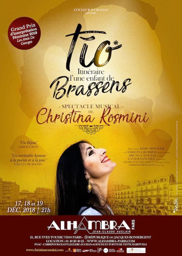 Christina Rosmini présente TIO itineraire d'une enfant de Brassens