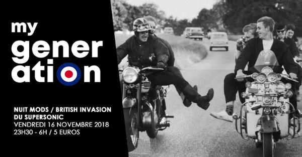 My Generation / La Nuit Mods – British Invasion du Supersonic