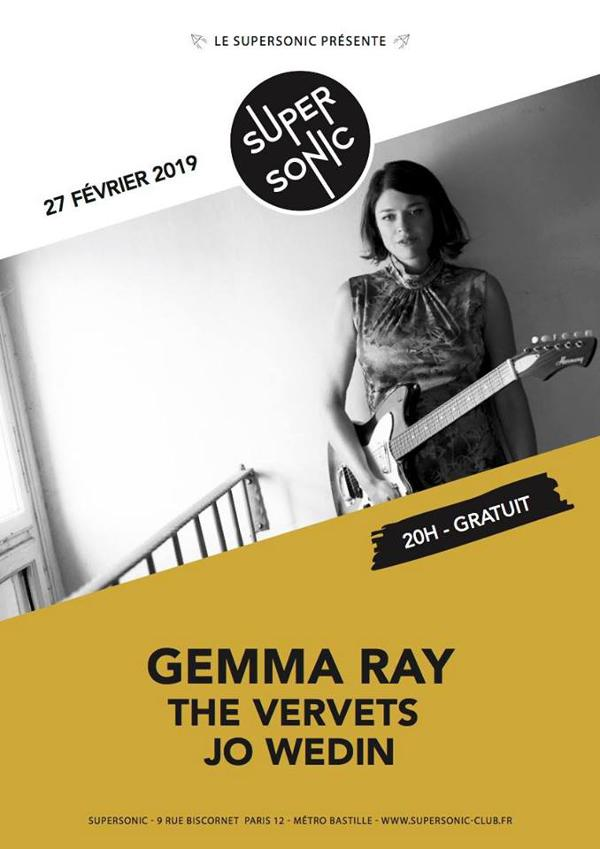 Gemma Ray • The Vervets • Jo Wedin / Supersonic (Free entry)