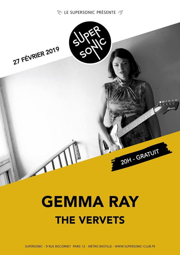 Gemma Ray • The Vervets / Supersonic - Free entrance