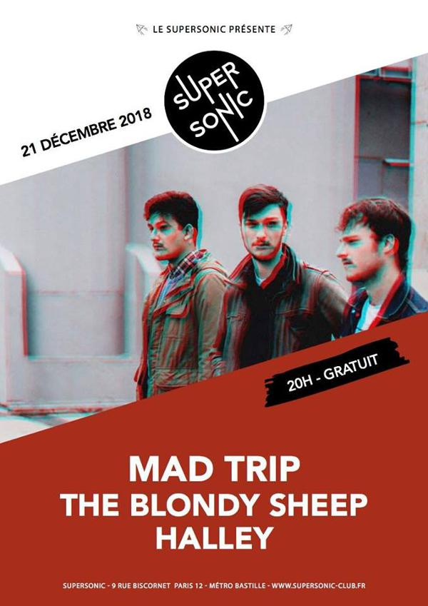 Mad Trip (Release Party) • The Blondy Sheep • Hālley / Gratuit