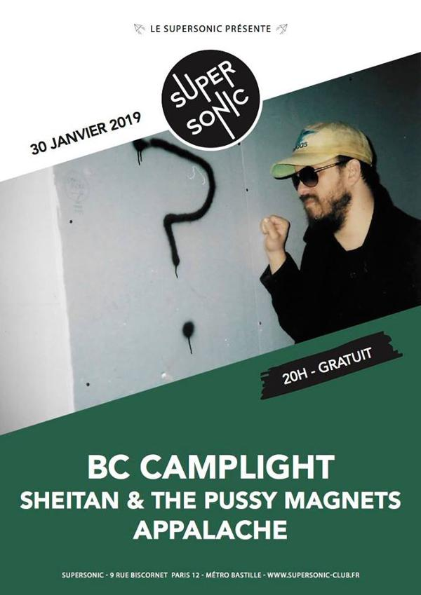 BC Camplight • Sheitan & The Pussy Magnets • Appalache