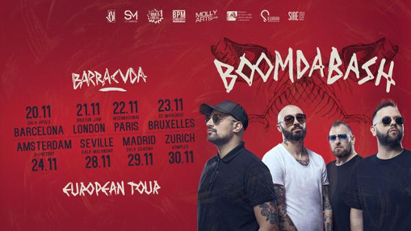 Boomdabash live in Paris - Barracuda European Tour
